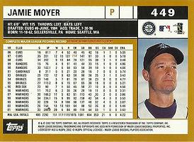 Topps Jamie Moyer