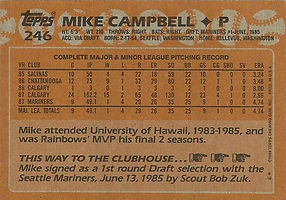 Topps Mike Campbell