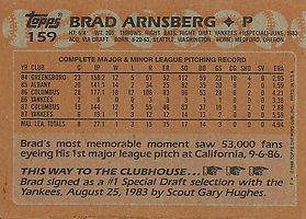 Topps Brad Arnsberg