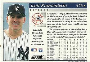 Score Scott Kamieniecki