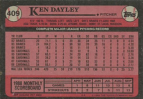 Topps Ken Dayley
