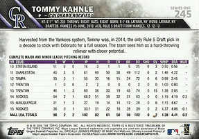 Topps Tommy Kahnle