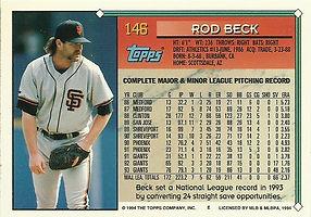 Topps Rod Beck