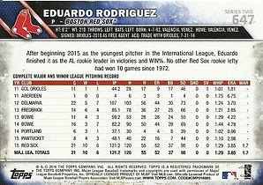 Topps Eduardo Rodriguez