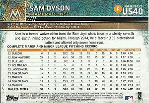 Topps Sam Dyson
