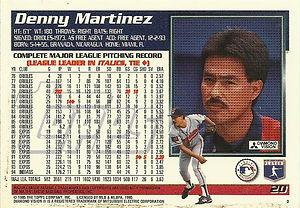 Topps Denny Martinez