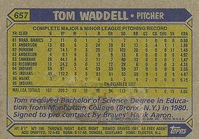 Topps Tom Waddell