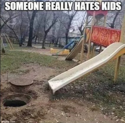 """Slide builder: """"I don't hate ALL kids. Just the ones I can see."""""""