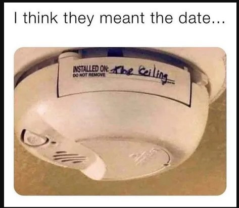 Without that label, future generations might never figure out where that alarm was.