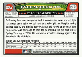 Topps Kyle McClellan