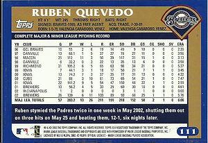 Topps Ruben Quevedo