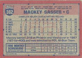 Topps Mackey Sasser