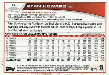 Topps Ryan Howard