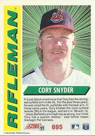 Score Cory Snyder
