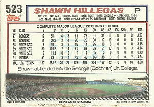 Topps Shawn Hillegas