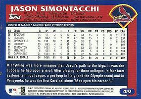 Topps Jason Simontacchi
