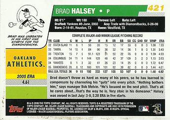 Topps Brad Halsey