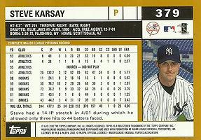 Topps Steve Karsay