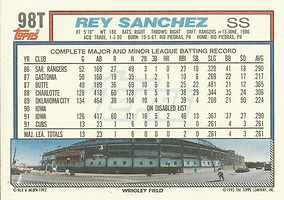 Topps Rey Sanchez