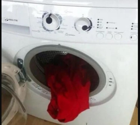 """""""MOMMMM! THE DRYER THREW UP!!!"""""""