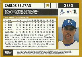 Topps Carlos Beltran