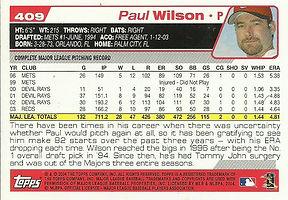 Topps Paul Wilson