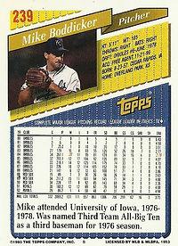 Topps Mike Boddicker