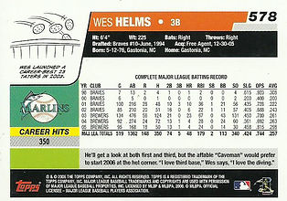 Topps Wes Helms