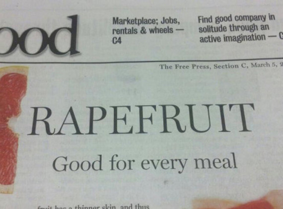 Now, you don't have to LIKE fruit, but no need to violate it, either.