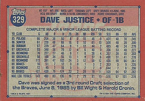 Topps Dave Justice