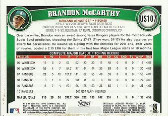 2011 Topps Brandon McCarthy