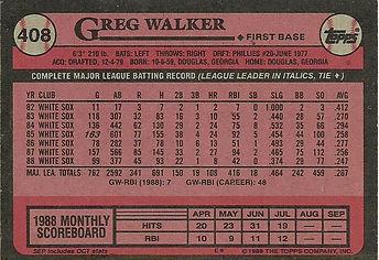 Topps Greg Walker