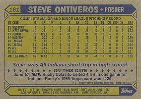 Topps Steve Ontiveros