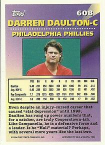 Topps Darren Daulton