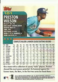Topps Preston Wilson