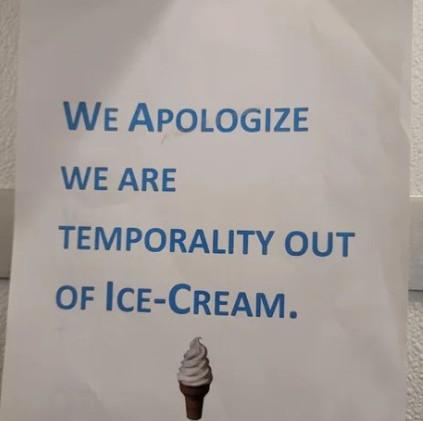 """Am I more bothered by the misspelling or the dash between """"ice"""" and """"cream""""?"""