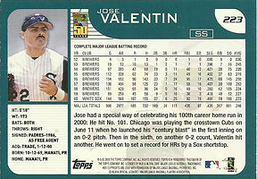 Topps Jose Valentin