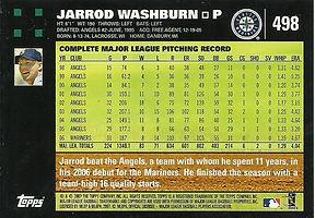 Topps Jarrod Washburn