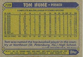 Topps Tom Hume