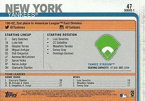 Topps New York Yankees