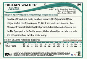 Topps Taijuan Walker