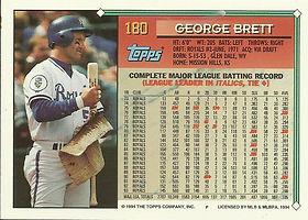 Topps George Brett