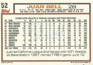 Topps Juan Bell
