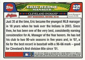 Topps Eric Wedge