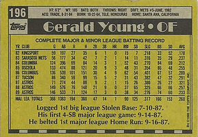 Topps Gerald Young