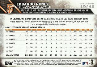 Topps Eduardo Nunez