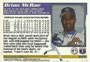 Topps Brian McRae
