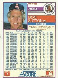 Score Don Sutton