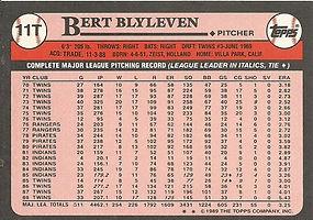 Topps Bert Blyleven