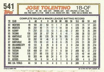 Topps Jose Tolentino